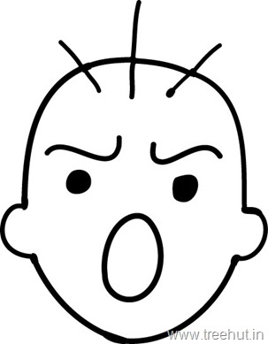 face to colour in expressions clipart to colour face in