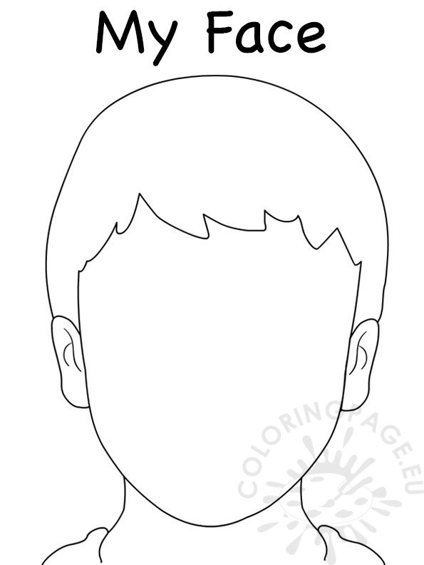 face to colour in face blank boy template coloring page colour face in to