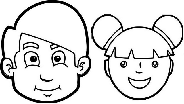 face to colour in face part cartoon coloring page face in to colour