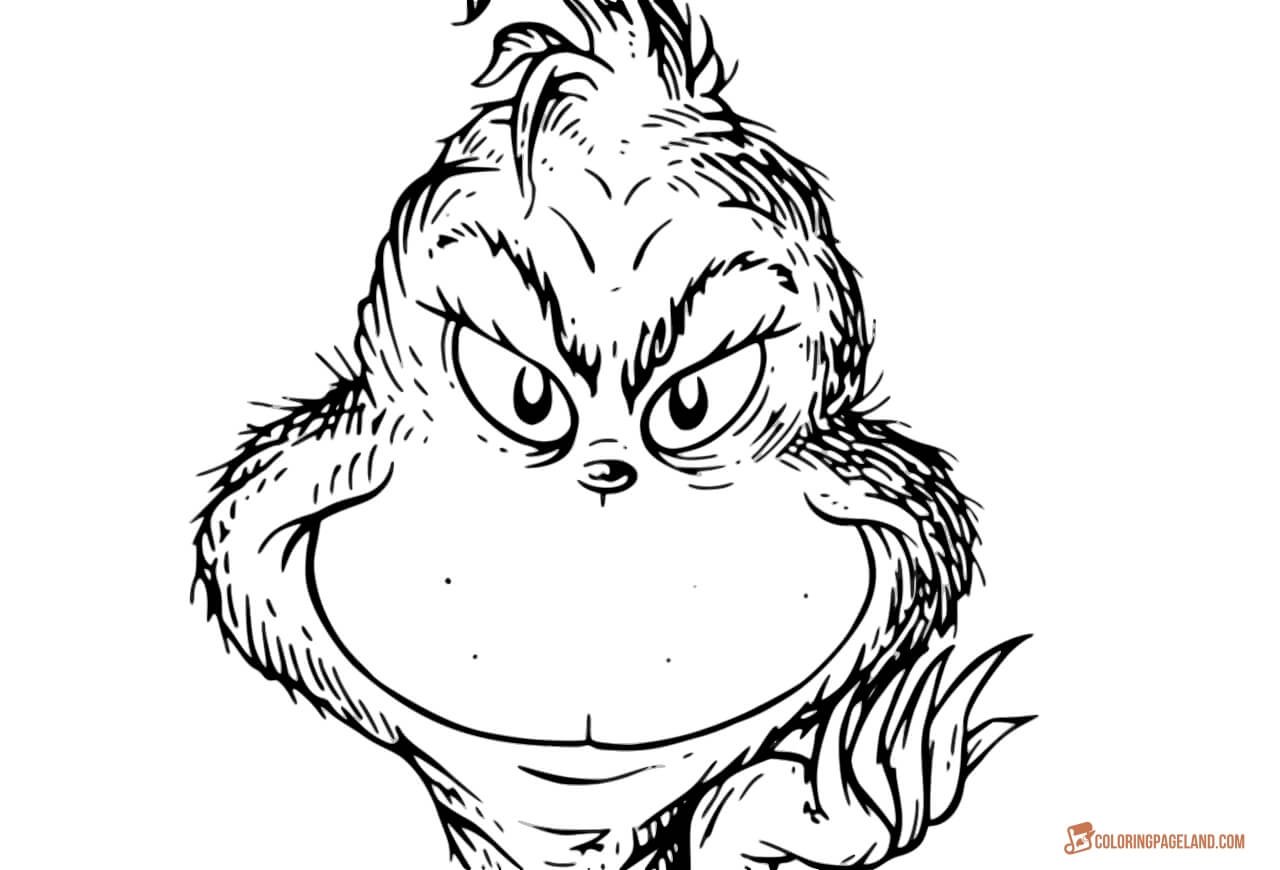 face to colour in free printable grinch face template that are handy face to colour in