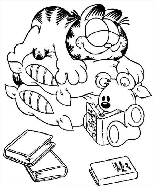 face to colour in garfield made silly face when he sleep coloring page face to in colour