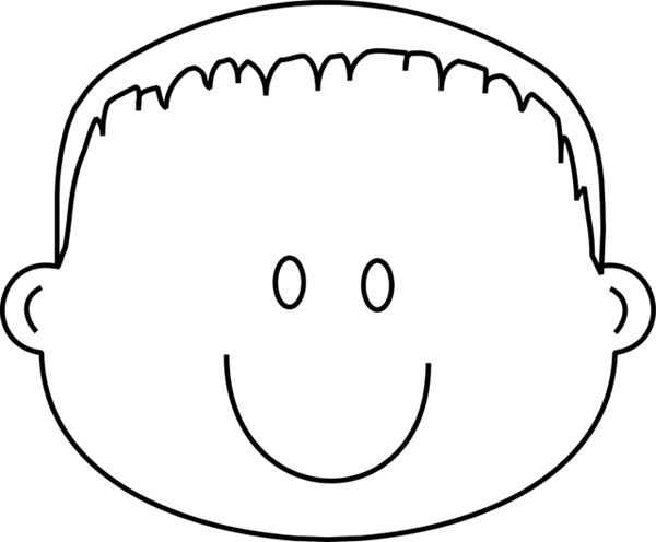 face to colour in kids face coloring page at getcoloringscom free in to colour face