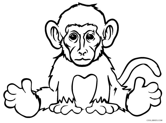 face to colour in monkey face coloring pages at getcoloringscom free to colour face in