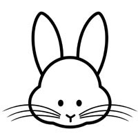 face to colour in rabbit face coloring pages surfnetkids face colour to in