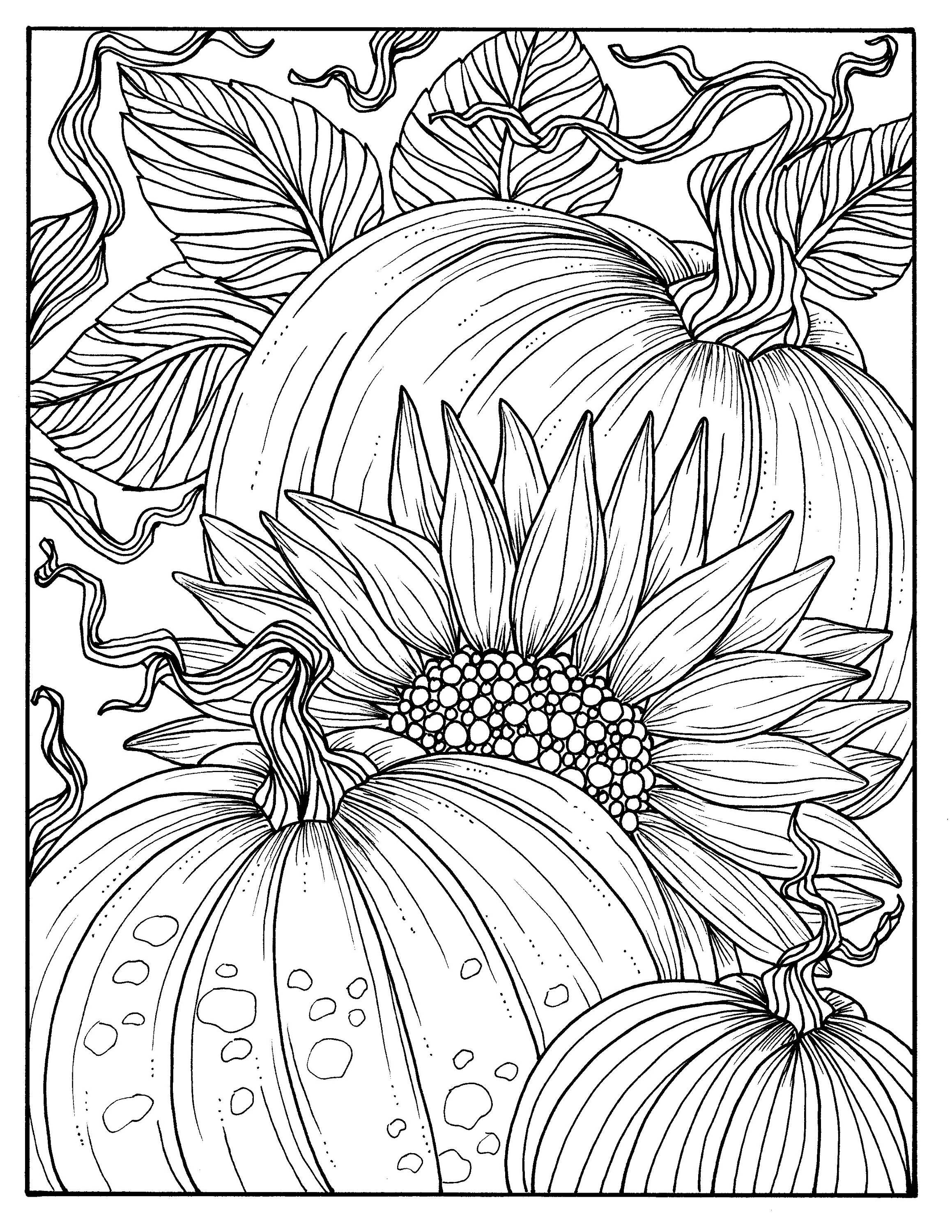 fall themed coloring pages 5 pages fabulous fall digital downloads to color punpkins themed pages coloring fall