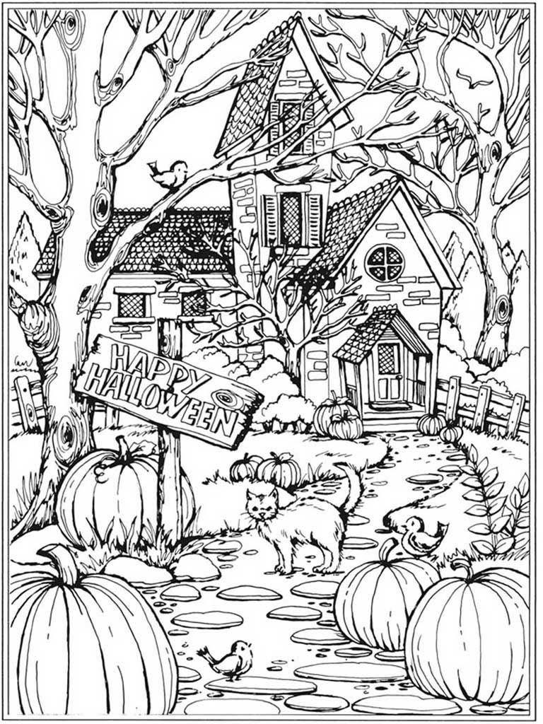 fall themed coloring pages autumn scenes coloring book sample 01 halloween coloring fall pages coloring themed