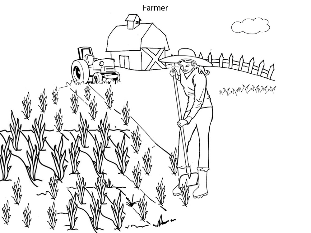 farmers coloring farmer coloring page on the farm farmers coloring