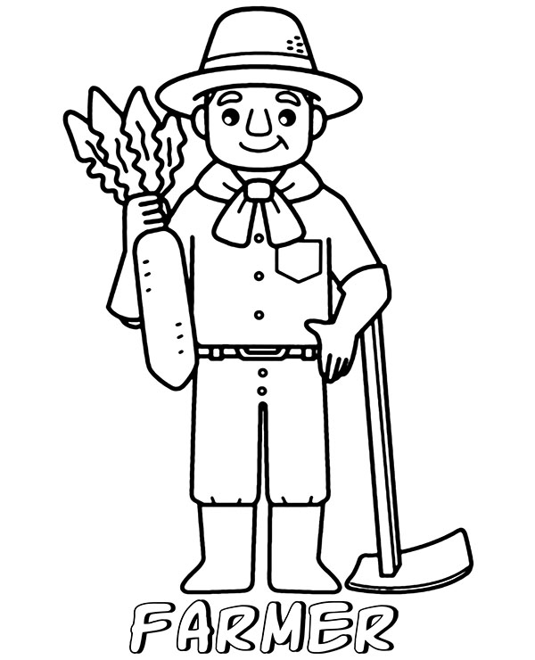 farmers coloring free printable farmer colouring pages coloring farmers