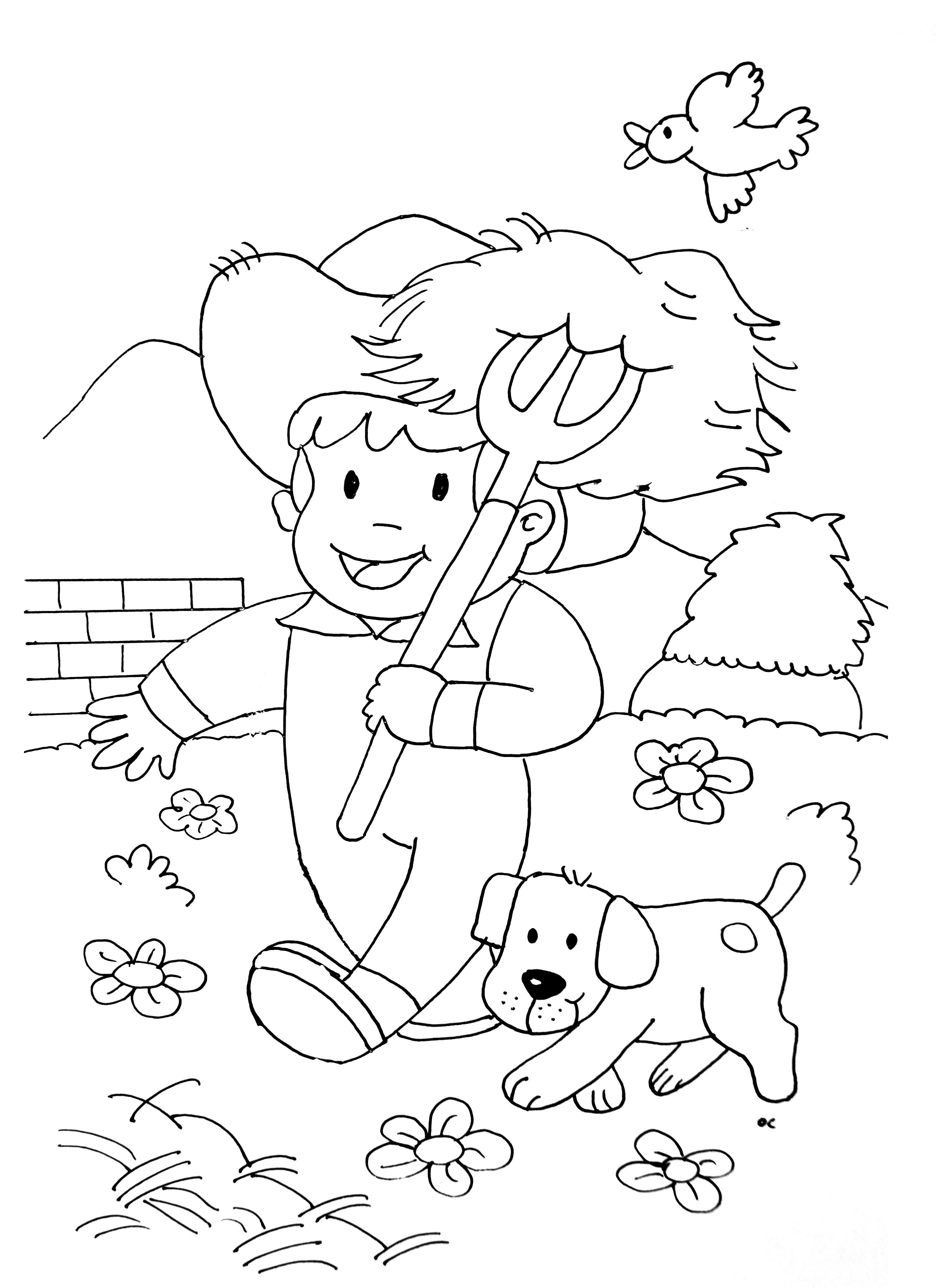 farmers coloring horse to color for children little farmer horses kids farmers coloring
