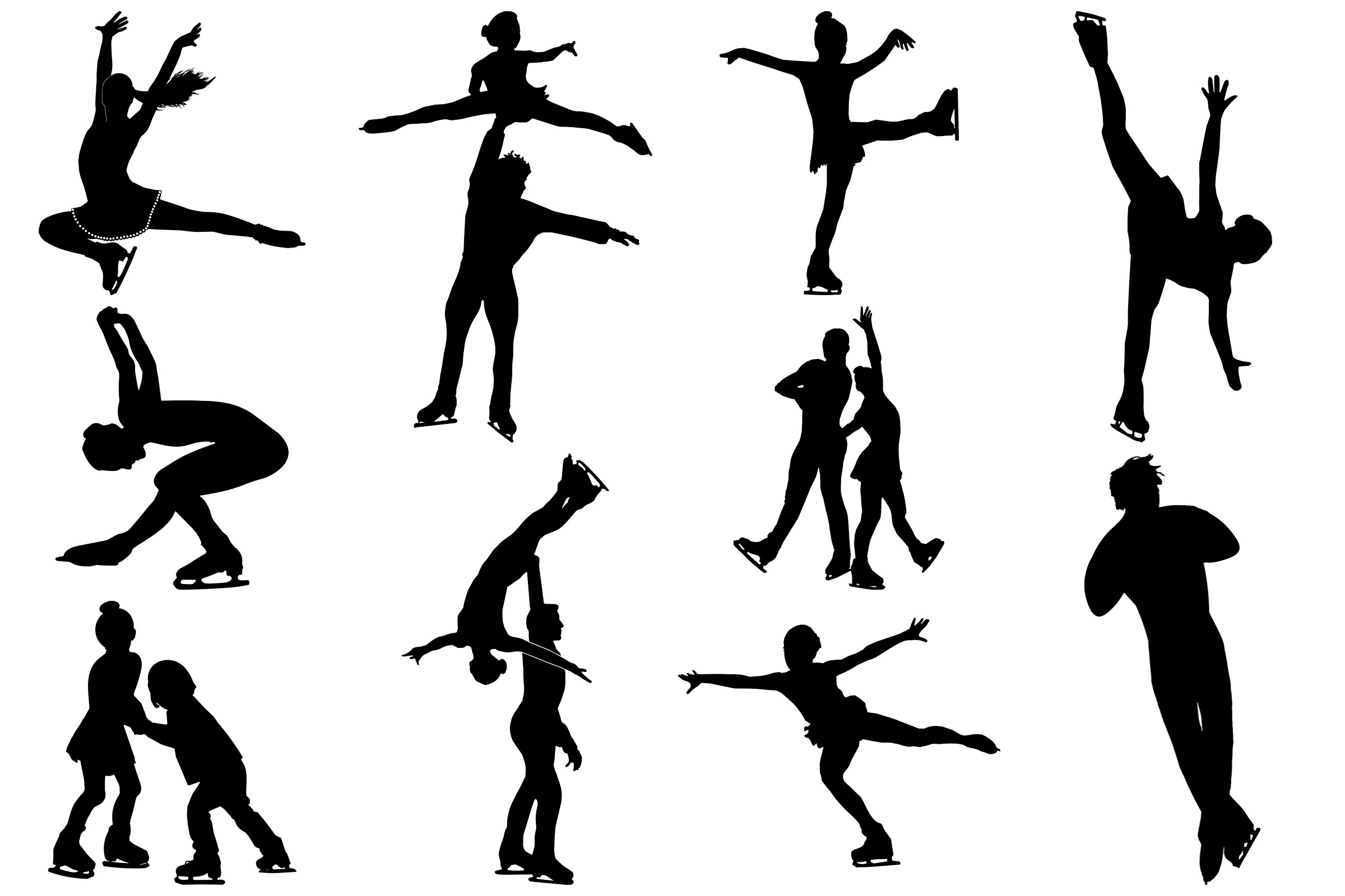 figure skater silhouette figure skaters silhouette at getdrawings free download silhouette figure skater