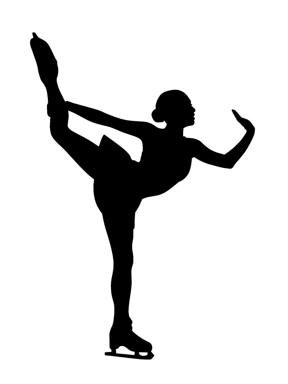 figure skater silhouette ice skaters silhouette at getdrawings free download skater figure silhouette
