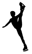 figure skater silhouette ice skating decals stickers silhouette skater figure