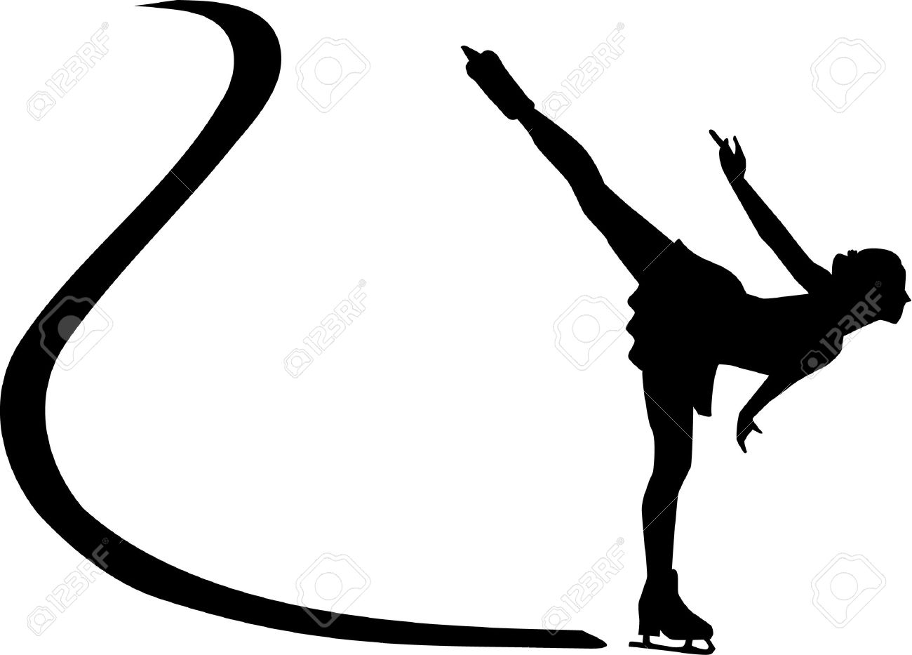 figure skater silhouette ice skating silhouette royalty free cliparts vectors and skater silhouette figure