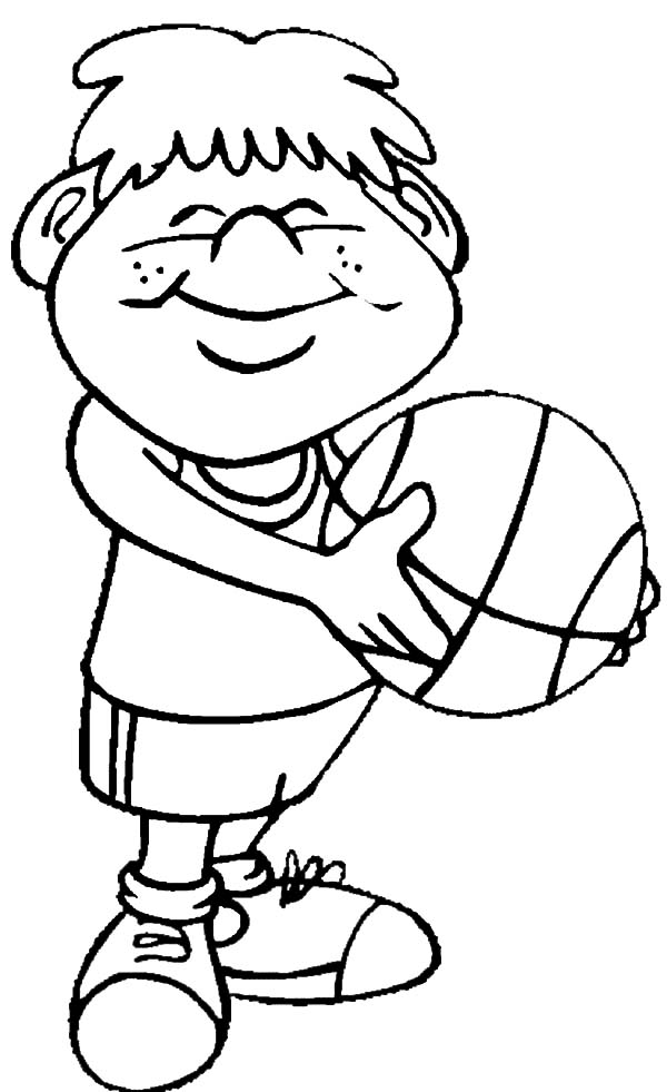 fitness coloring pages for kids smiling boy begin to basketball exercise coloring pages for coloring fitness kids pages