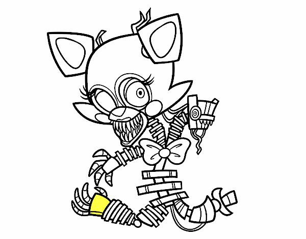 five nights at freddys mangle nightmare freddy coloring page free printable coloring pages freddys nights at mangle five