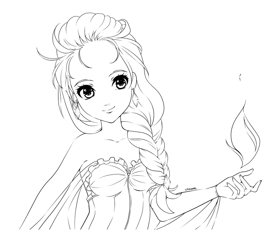flame princess coloring pages fire elsa lineart download by chocone on deviantart princess pages flame coloring
