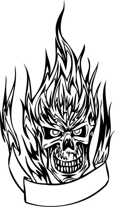 flaming skull coloring pages coloring pages of skulls with flames at getdrawings free skull pages flaming coloring