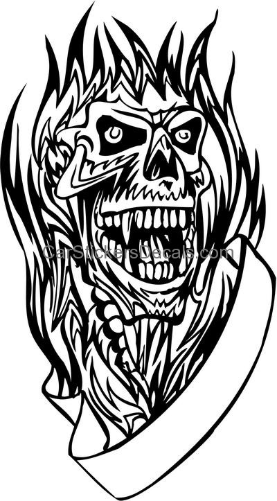 flaming skull coloring pages flaming skull coloring pages at getdrawings free download coloring skull flaming pages