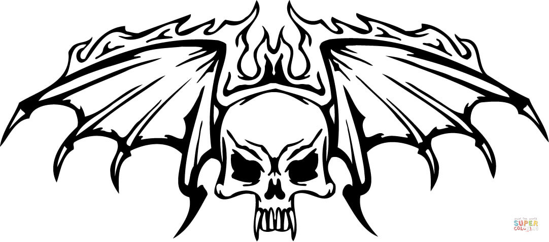 flaming skull coloring pages printable skull coloring pages coloringmecom coloring flaming skull pages