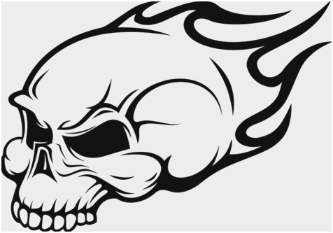 flaming skull coloring pages skulls drawings free download on clipartmag skull coloring flaming pages