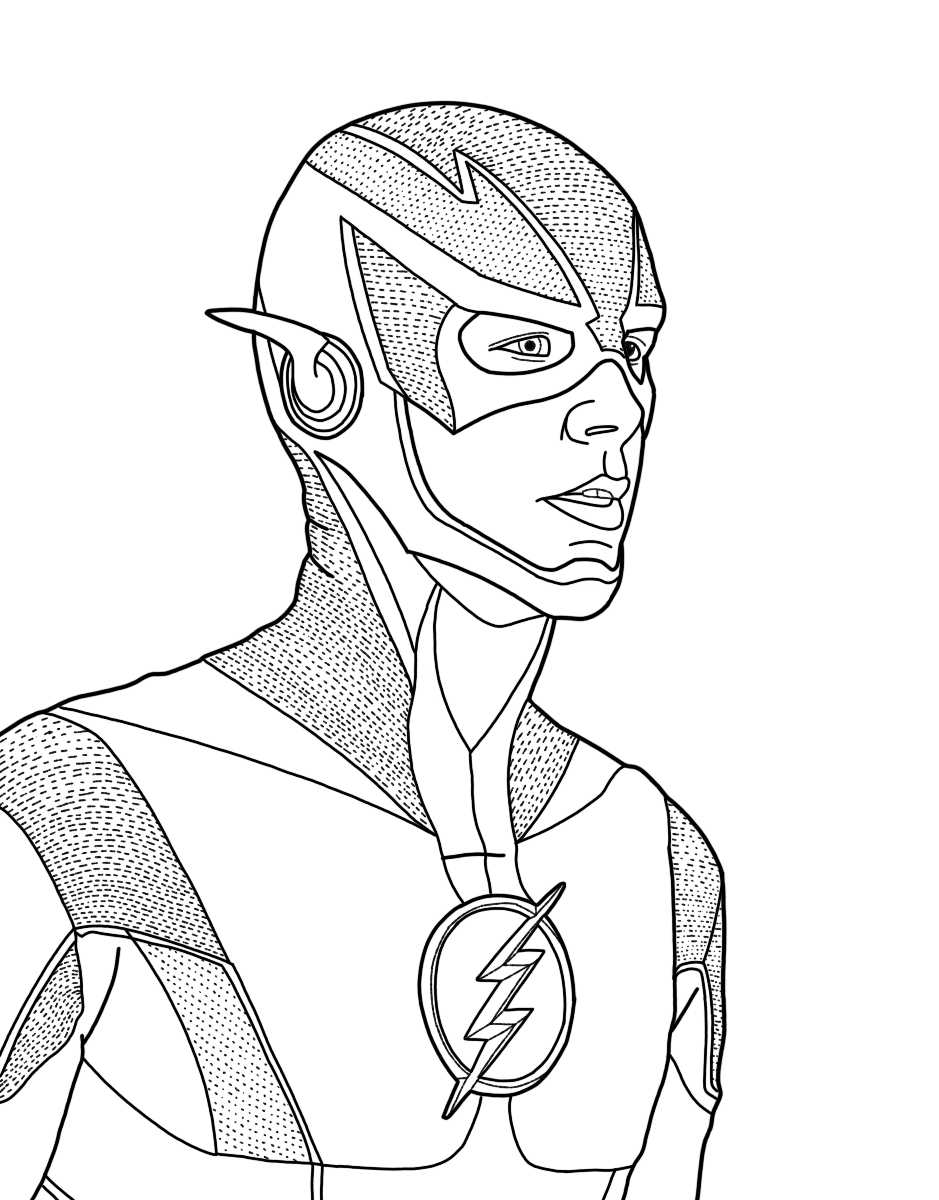 flash coloring pages dc comics flash coloring pages download and print for free flash coloring pages