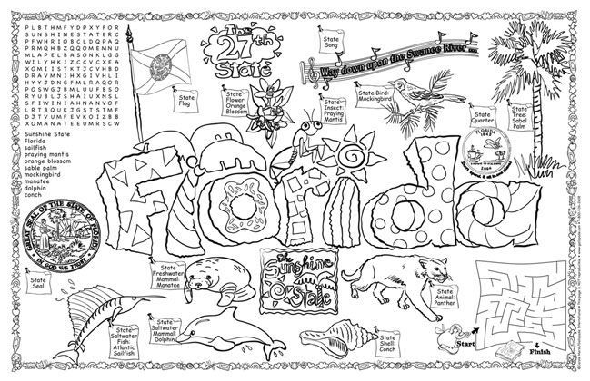 florida state symbols coloring pages florida state symbols coloring pages florida symbols coloring state pages symbols florida