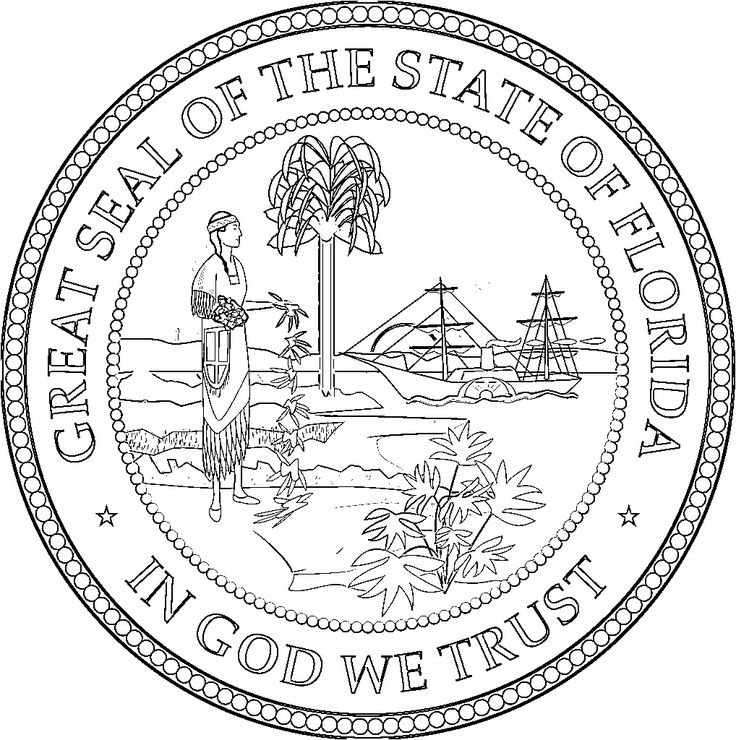 florida state symbols coloring pages florida state symbols coloring pages florida symbols florida coloring symbols state pages