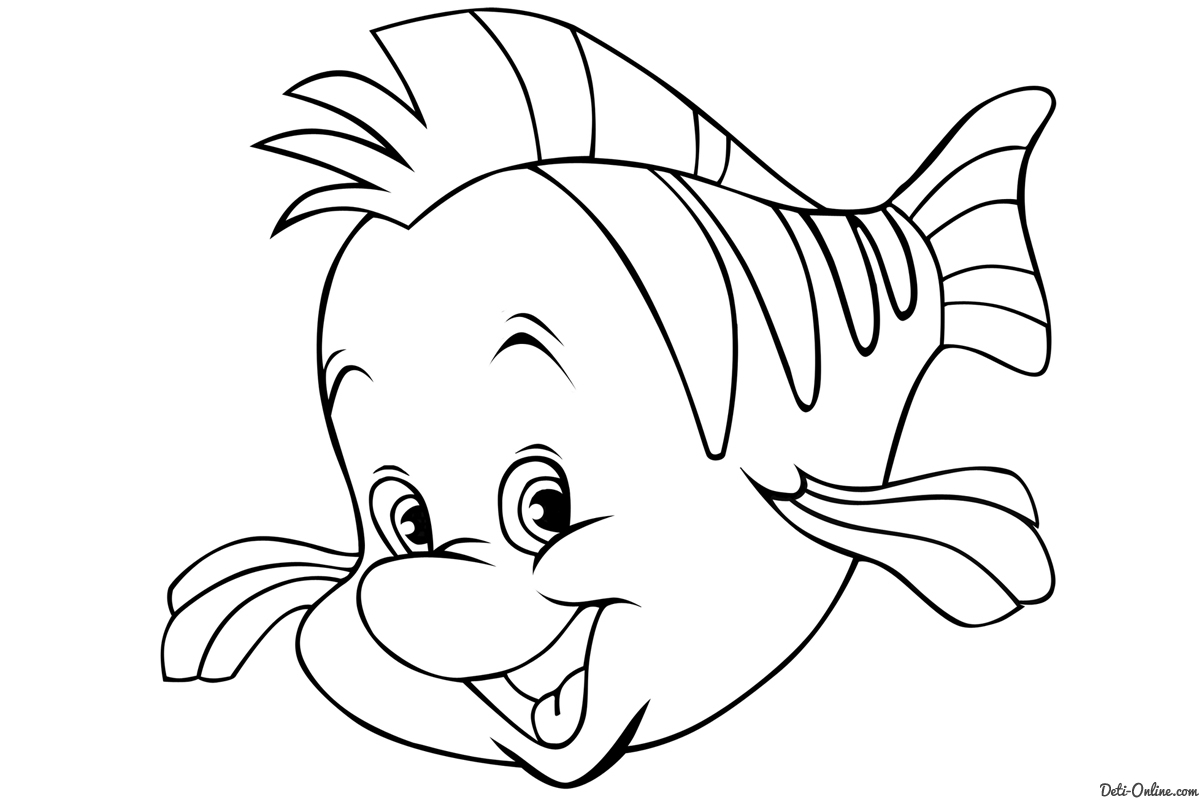 flounder coloring pages 5 best images of flounder little mermaid printable coloring pages flounder