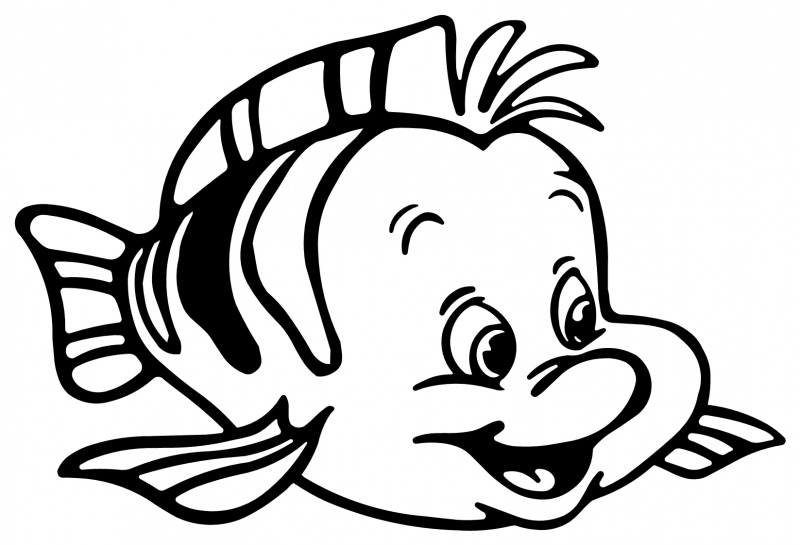 flounder coloring pages litle mermaid flounder fish animal coloring kentscraft coloring flounder pages