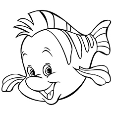flounder coloring pages little mermaid coloring pages flounder coloring pages