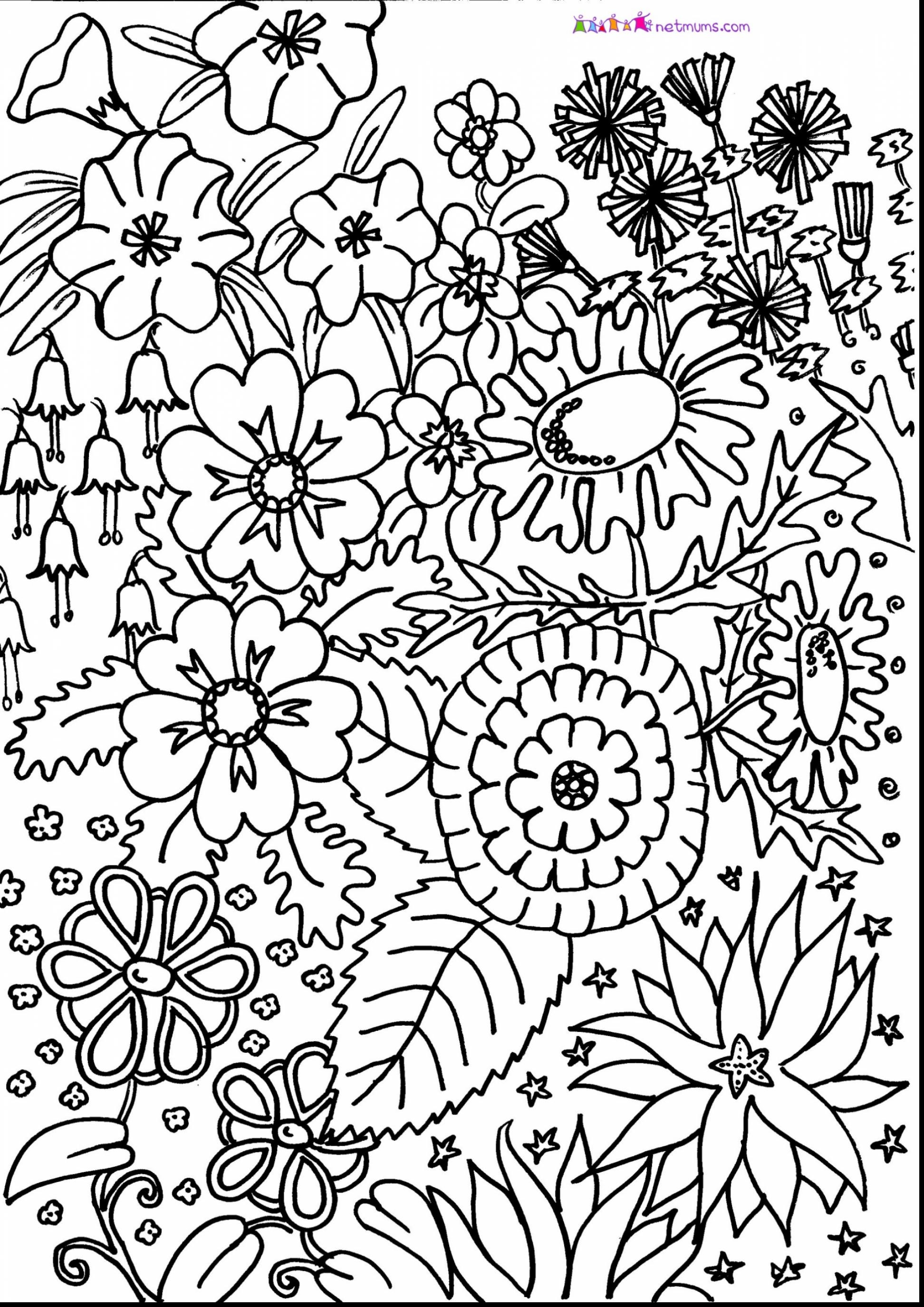 flower pattern to color floral coloring pages for adults best coloring pages for flower to pattern color
