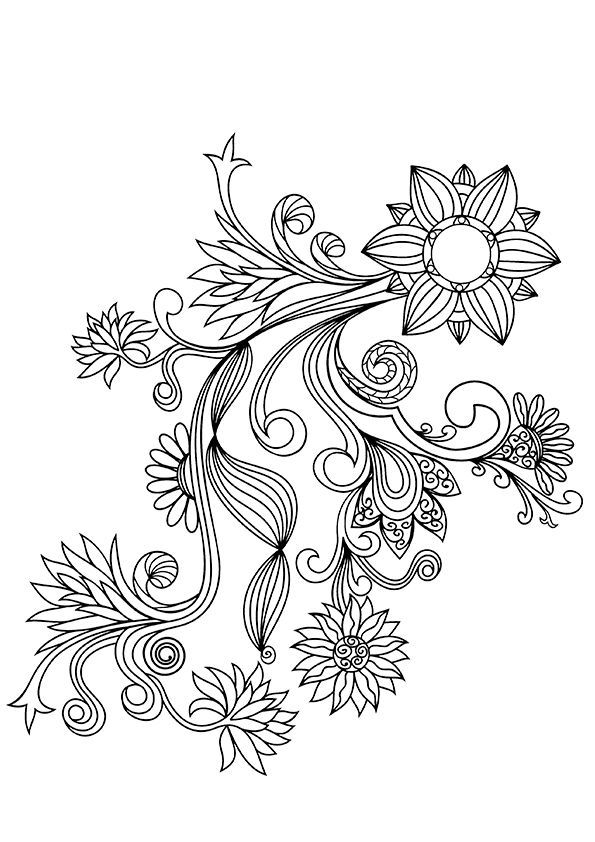 flower pattern to color flower coloring pages for adults best coloring pages for pattern color flower to