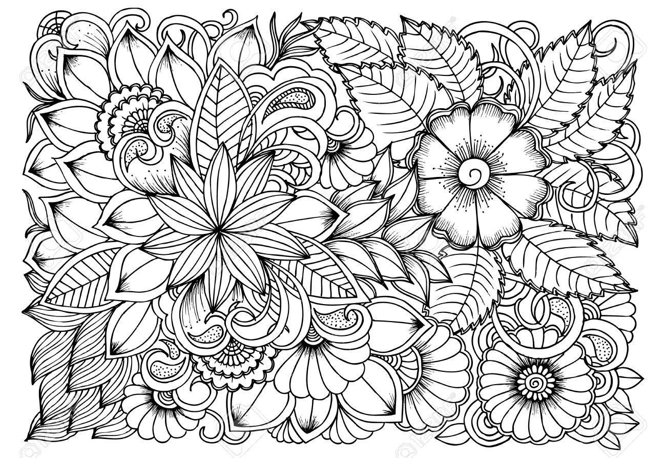 flower pattern to color flower pattern coloring pages at getdrawings free download flower color to pattern
