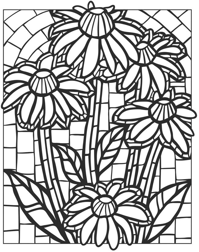 flower pattern to color flower pattern coloring pages at getdrawings free download flower to color pattern