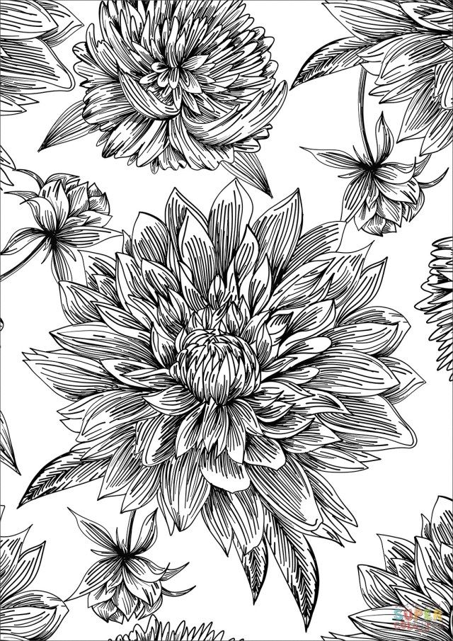flower pattern to color flowers free to color for kids flowers kids coloring pages pattern color to flower