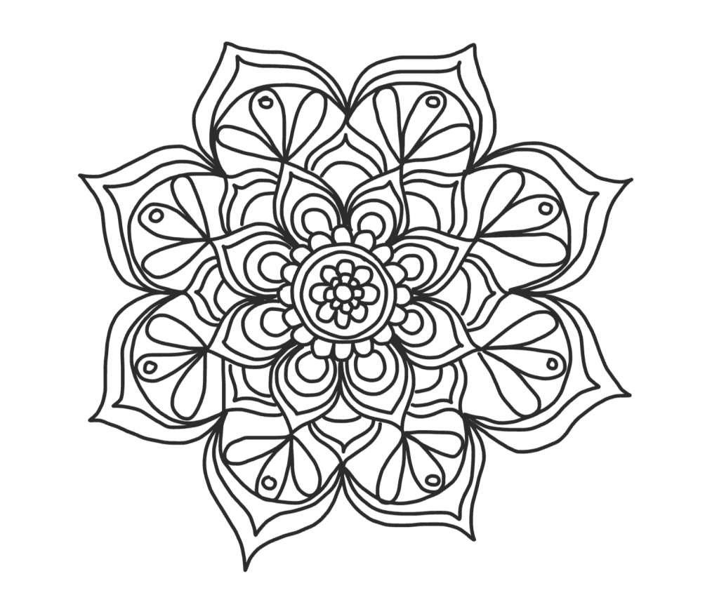 flower pattern to color stained glass coloring pages for adults best coloring flower pattern color to