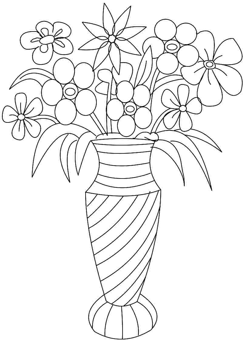 flower printable coloring sheets vase and flowers coloring page coloring home flower printable sheets coloring