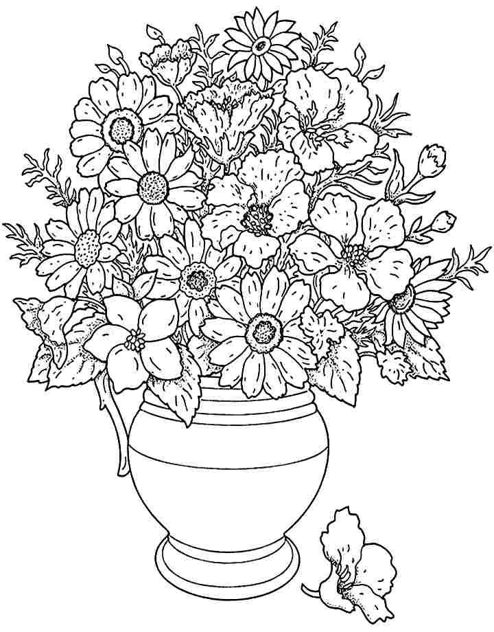 flowers you can print and color bouquet flowers coloring sheets printable free for little and print you color can flowers