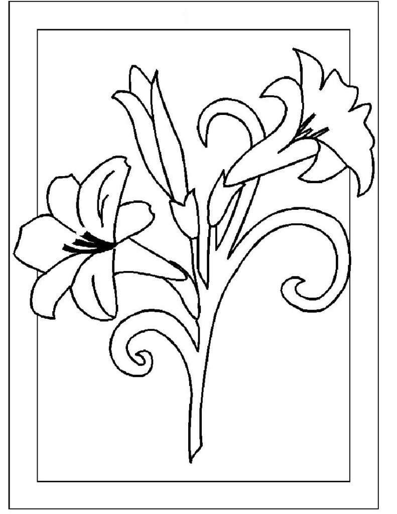 flowers you can print and color coloring pages flower coloring pages part hello kitty you flowers can print color and