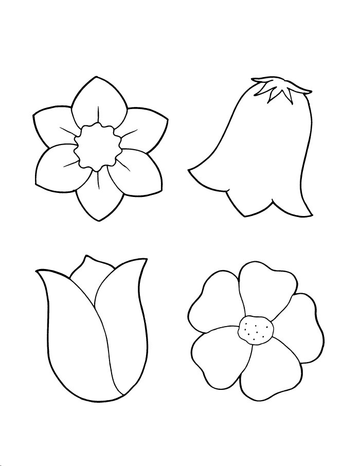 flowers you can print and color flower coloring pages 10 coloring kids coloring kids flowers you color can print and