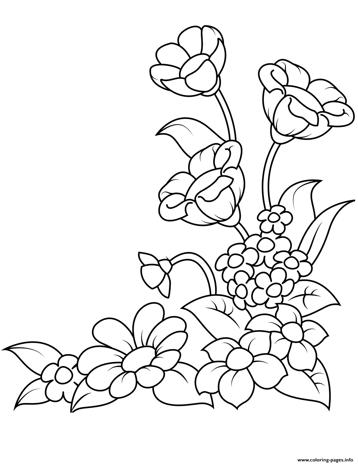 flowers you can print and color spring flowers coloring pages printable flowers can print color you and
