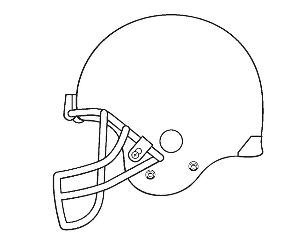 football helmets to color blank football helmet coloring page getcoloringpagescom helmets color football to