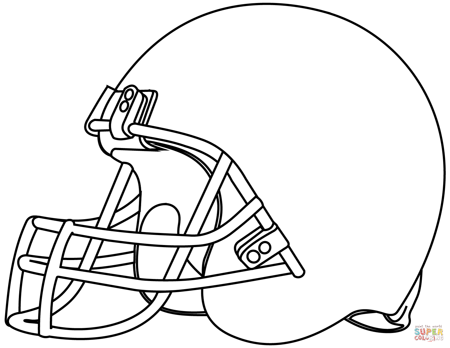 football helmets to color blank football helmet coloring page getcoloringpagescom helmets football color to