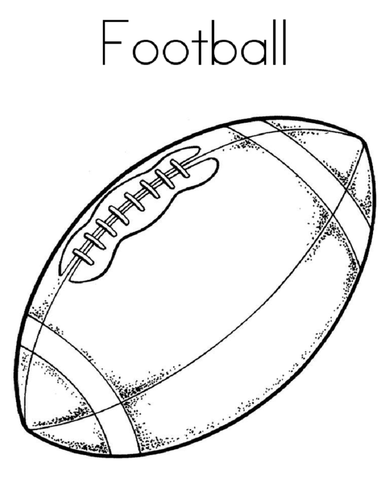 football images to colour football coloring pages for preschoolers activity shelter to images football colour