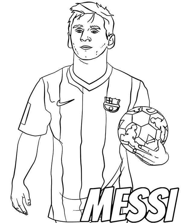 football images to colour football player messi coloring sheet by topcoloringpages football to images colour