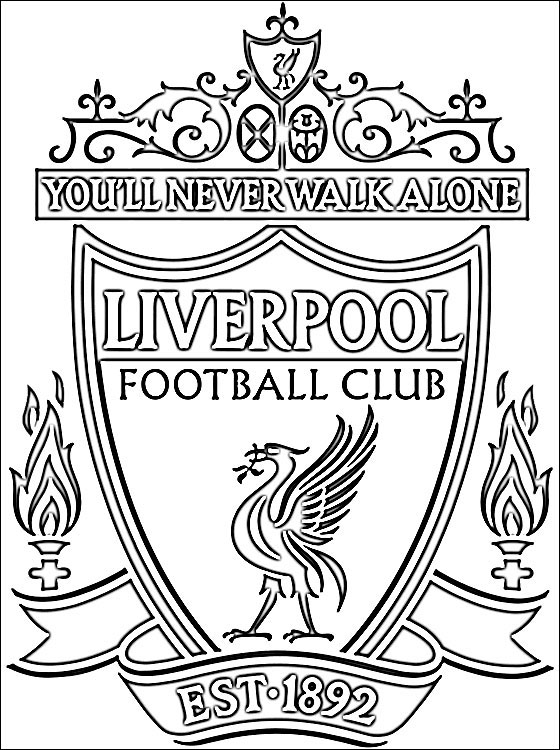 football images to colour liverpool football club coloring page coloring pages colour football images to