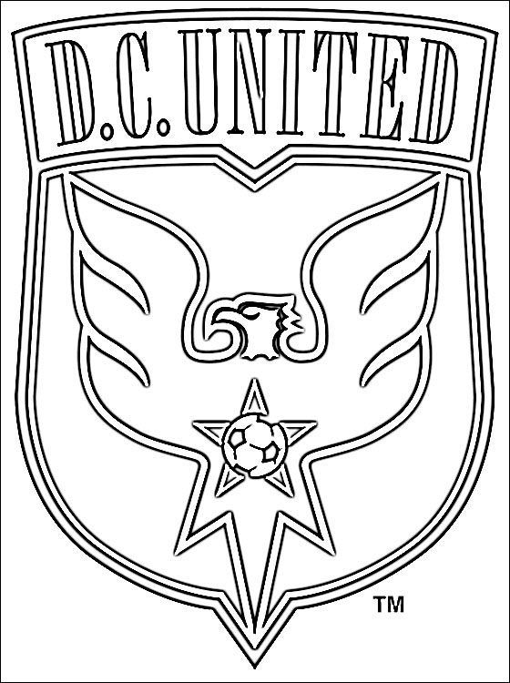 football logos coloring pages coloring page of dc united logo coloring pages pages logos coloring football