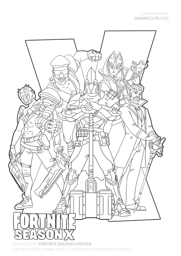 fortnite season 4 coloring pages pin on fortnite coloring pages 4 pages season coloring fortnite