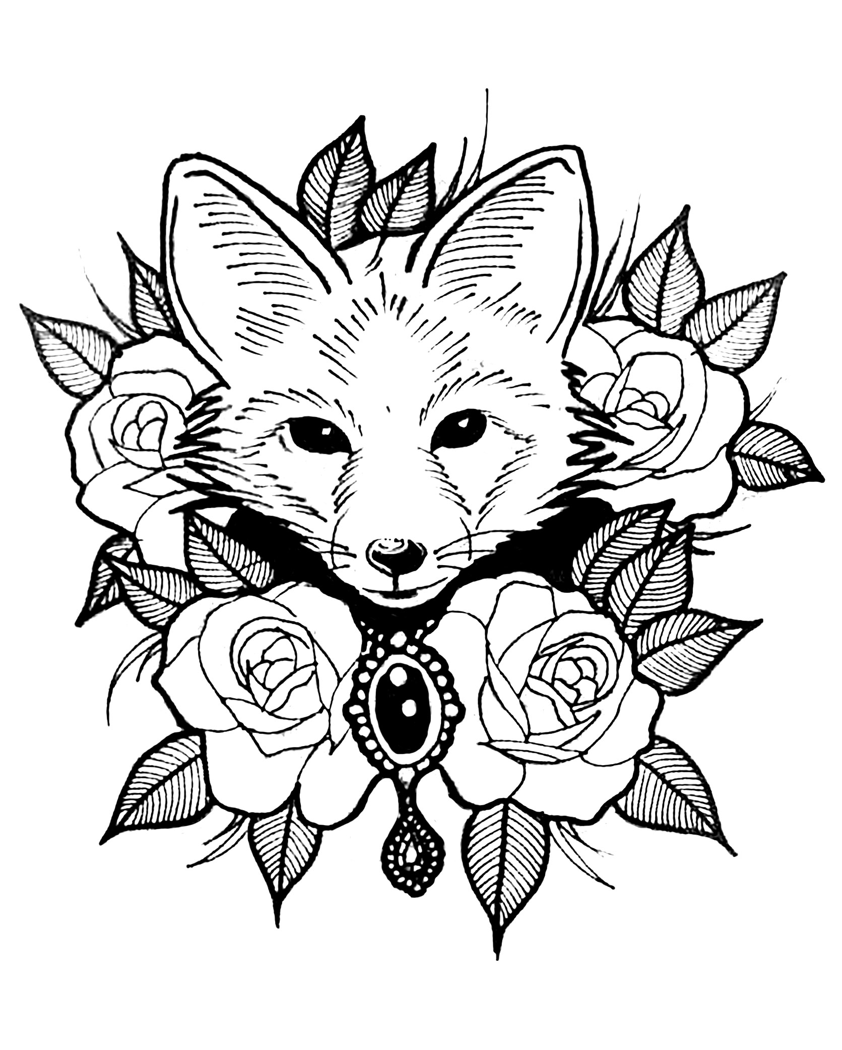 fox animal coloring pages free fox coloring pages coloring animal fox pages