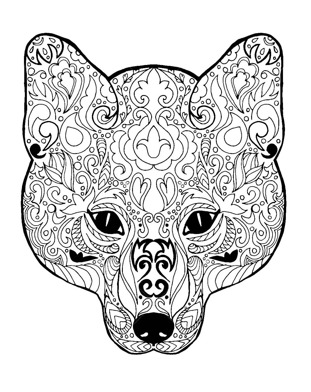 fox animal coloring pages realistic fox coloring pages fox coloring page animal coloring pages fox animal